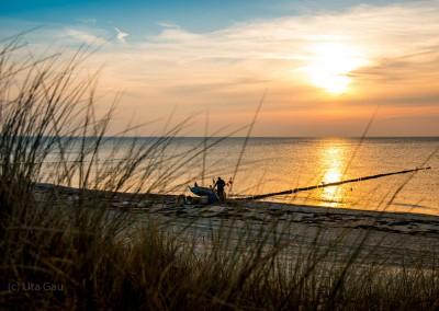 Boot in der Herbstsonne
