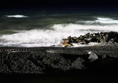 Flutlicht am Strand