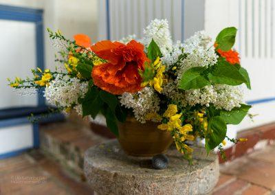 Blumenschmuck in der Inselkirche