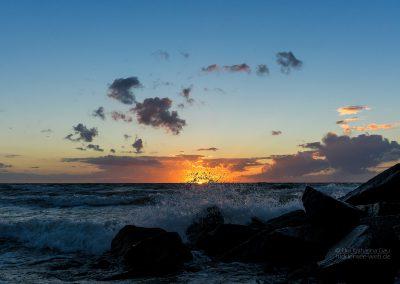 Spritziger Sonnenuntergang
