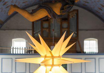 Herrnhuter Stern in der Inselkirche