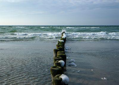 Buhnen, Eis und Wellen