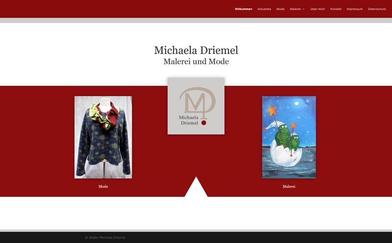 Michaela Driemel, Mode und Malerei